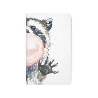 Cuaderno de bolsillo del Racoon de Bubblegum
