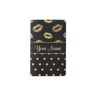 Cuaderno De Bolsillo Moleskine Besos del negro y del oro y corazones del amor