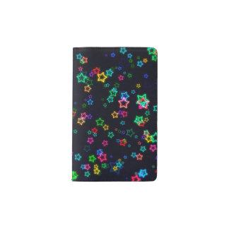Cuaderno De Bolsillo Moleskine Estrella de neón del estallido colorido