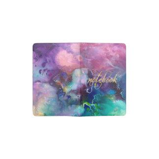 Cuaderno De Bolsillo Moleskine pintura púrpura colorida del modelo de la textura