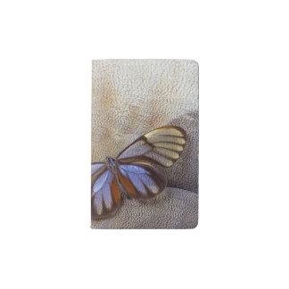 Cuaderno De Bolsillo Moleskine pluma egipcia del ganso de la mariposa del