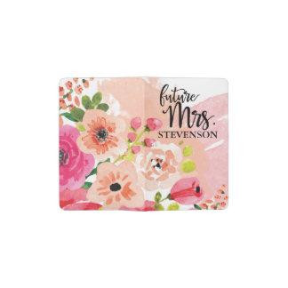 Cuaderno De Bolsillo Moleskine Señora futura floral rosada bonita Journal