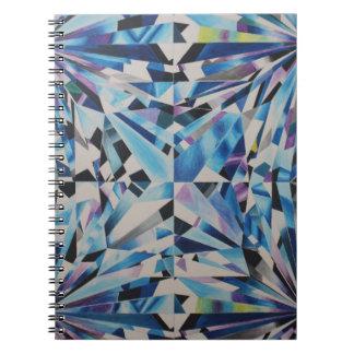 Cuaderno de cristal de la foto del diamante (80