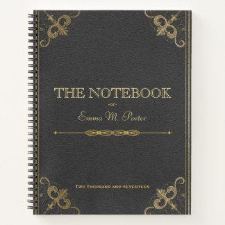 Cuaderno de cuero de la escuela del libro del