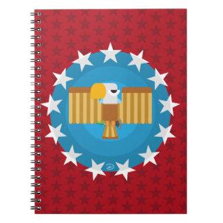 Cuaderno de Eagle de la libertad (rojo) -