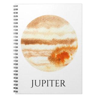 Cuaderno de la acuarela del planeta de Júpiter