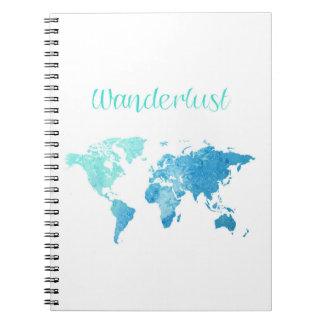Cuaderno de la acuarela del Wanderlust