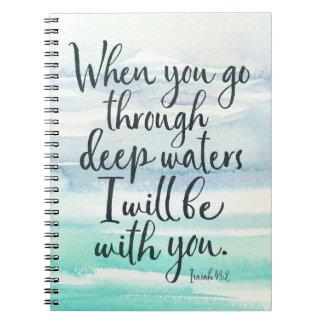 Cuaderno de la biblia de la acuarela de las aguas