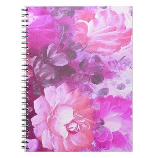 Cuaderno de la flor de la acuarela