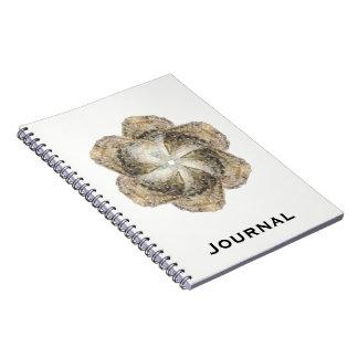 Cuaderno de la flor de la ostra - blanco del