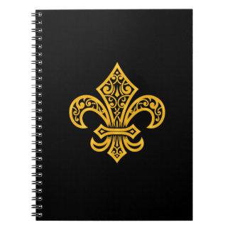 """Cuaderno de la flor de lis del oro/diario (6,5"""" x"""