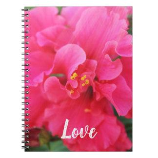 Cuaderno de la flor del amor