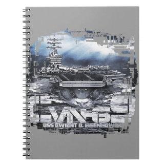 Cuaderno de la foto de portaaviones D.D.Eisenhower