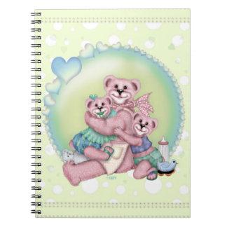 Cuaderno de la foto del AMOR del OSO de la FAMILIA