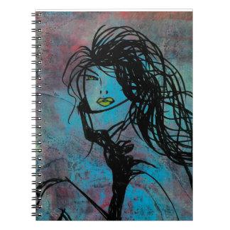 Cuaderno de la foto del cuello cisne