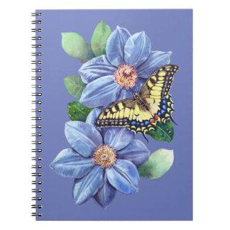 Cuaderno de la mariposa de la acuarela