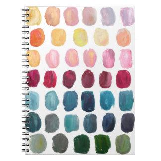 Cuaderno de la paleta de colores