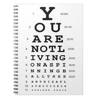 Cuaderno de la prueba del ojo