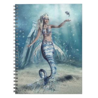 Cuaderno de la sirena de la fantasía