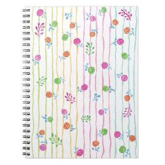 Cuaderno de las flores del bonito