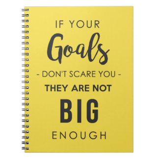 Cuaderno de las metas bastante grande