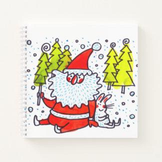 Cuaderno de los animales del navidad del dibujo