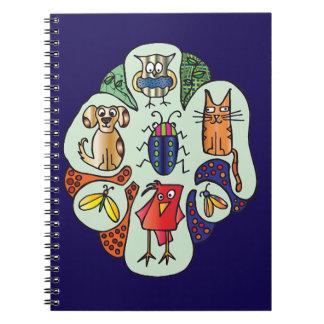 Cuaderno de los Critters de la naturaleza