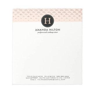 Cuaderno de notas color de rosa adaptable del