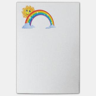 Cuaderno de notas de Sr. Sun Happy Rainbow