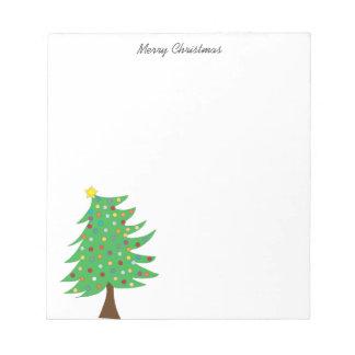 Cuaderno de notas del árbol de navidad