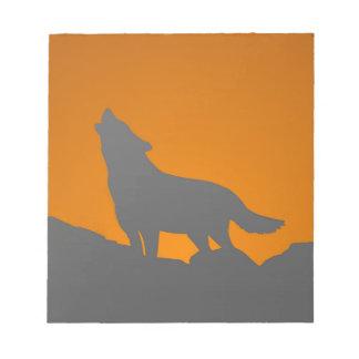 Cuaderno de notas del lobo del grito