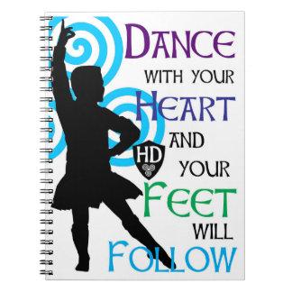 Cuaderno de notas del muchacho del bailarín de la