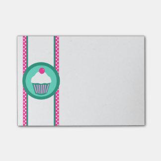 Cuaderno de notas del post-it de las magdalenas