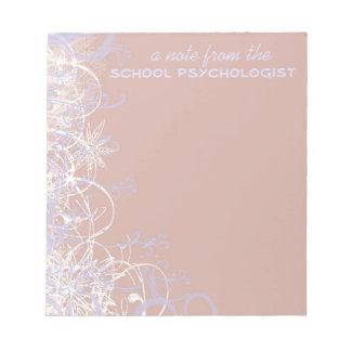 Cuaderno de notas hermoso del psicólogo de la escu