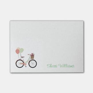 Cuaderno de notas personalizado bicicleta bonita
