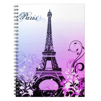 Cuaderno de París de la torre Eiffel