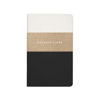 Cuaderno De Viaje Cuero y negro del oro