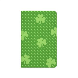 Cuaderno De Viaje Día verde de Patricks del santo del modelo del
