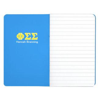 Cuaderno De Viaje Letras del amarillo de la sigma de la sigma de la