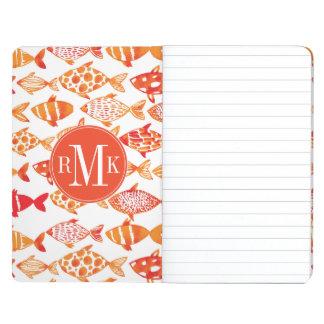 Cuaderno De Viaje Modelo anaranjado brillante de los pescados de la