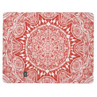 Cuaderno De Viaje Modelo rojo de la mandala