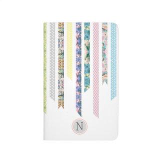 Cuaderno De Viaje Pasteles de la cinta de Washi el | DIY y monograma
