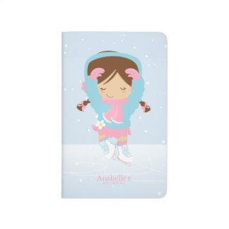 Cuaderno De Viaje Pequeña figura patinador linda personalizado