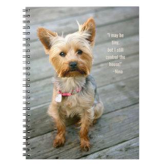"cuaderno de Yorkshire Terrier ""Nina"" del jjhelene"