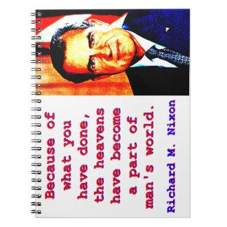 Cuaderno Debido a lo que usted ha hecho - Richard Nixon