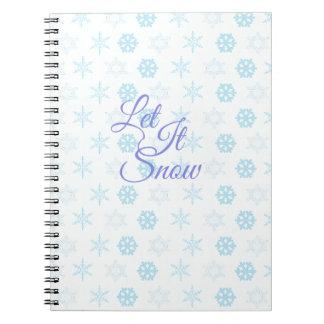 Cuaderno Dejáis le sea navidad Nevado