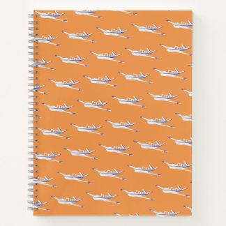 Cuaderno del aeroplano, naranja de la bonanza de