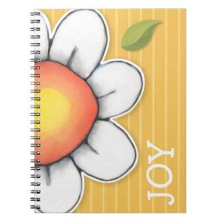Cuaderno del amarillo de la alegría de la