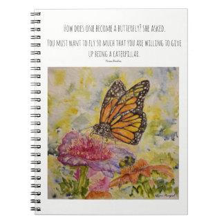 Cuaderno del arte de la acuarela de la mariposa de