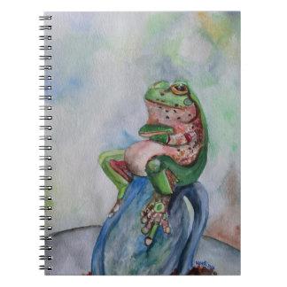 Cuaderno del arte de la acuarela de la rana